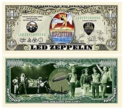 2-Led Zeppelin Dollar Bills Music Rock Band Collectible MONEY-F2 FAKE