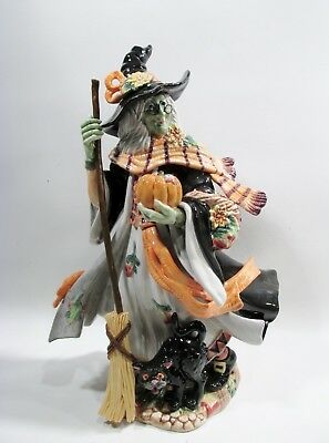 Ltd Ed FITZ & FLOYD Classics HALLOWEEN Harvest WITCH Figure