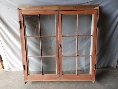 Antique Large Complete Double Casement Window With Surround 6 Lite 50X51 394-17P