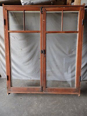 Antique Large Complete Double Casement Window With Surround Vtg 60X53 395-17P