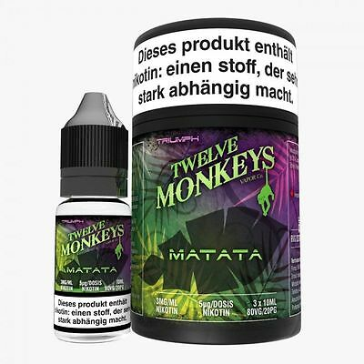 Twelve Monkeys Matata 10ml Premium e Liquid 6mg Nikotin/ml