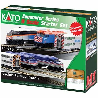 Kato 1060033 N Virginia Railway Express Scale MP36PH Commuter Train Starter Set