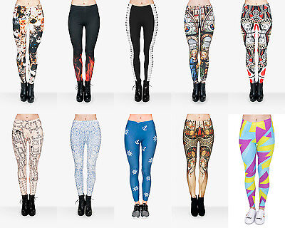 Womens Ladies Harry Potter Cats Fitness Gym Workout Print UK Summer Leggings