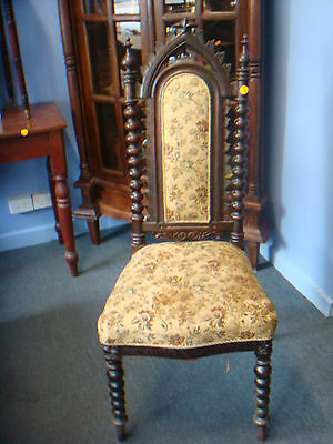 Antique Jacobean Chair Hand Carved/good  Condition/