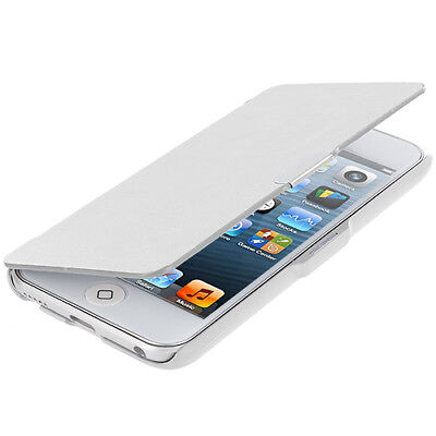 For iPod Touch 6th Gen 6G 6 Wallet Leather Hard Cover Case Pouch White