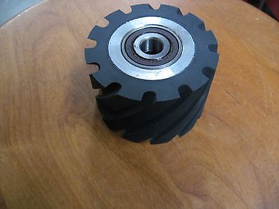 "Belt Sander/Grinder Serrated Rubber Contact Wheel,3"" Diameter Knife Making Wheel"