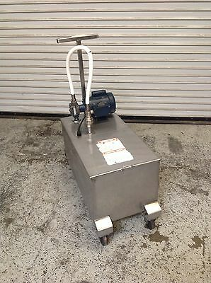 130 LB Oil Grease Caddy Transport Dump Machine Darling 402 #6762 Commercial UL