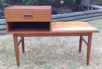 Parker Telephone Table Original Vintage Item With Vinyl Seat