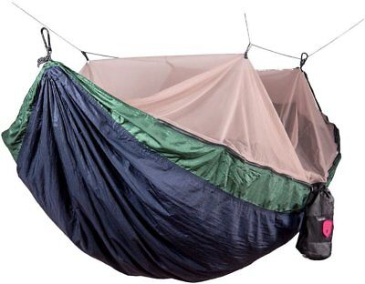 Skeeter Beeter Pro Mosquito Hammock, GRAND TRUNK, Navy/Forest