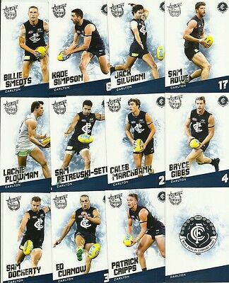 2017 Select Certified Carlton Common Team Set 12 Cards Afl