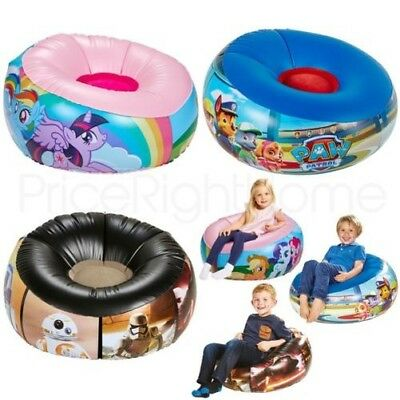 Kids Junior Lightweight Inflatable Chair - Paw Patrol, My Little Pony, Star Wars