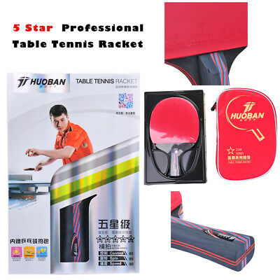 HUOBAN 6345A Pro 5 Star Table Tennis Racket Ping Pong Racket Long Handle Paddle