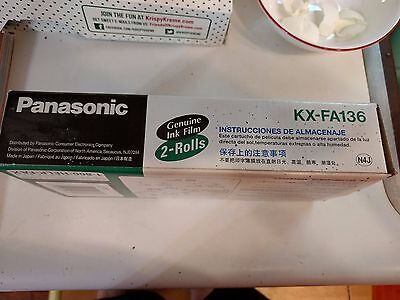 PANASONIC KX-FA136 Genuine Ink Film Replacement Film Brand New Sealed ONE ROLL