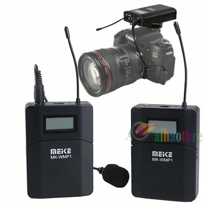 MEIKE UHF DPLL Wireless Microphone For DSLR Camera Video Recording DV Camcorder