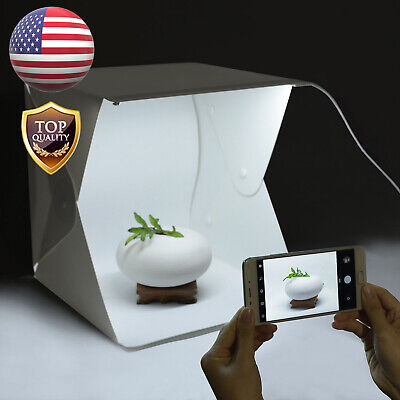 Folding Portable Photo Studio LED Light Photography Tent Backdrop Small Cube Box