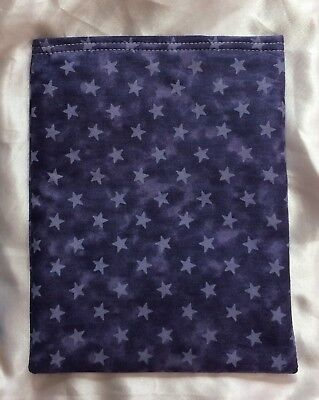 Paperback Book Pouch Cover Sleeve Holder - Navy Star