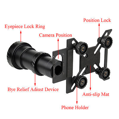 New Phone Rifle ScopeMount Adapter for 38-48mm Eyepiece Scope&Telescope CO