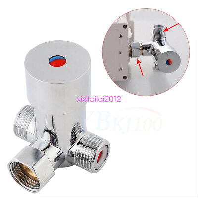 G1/2 Water Heater Thermostat Mixing Valve Hot Cold Temperature Control Mixer