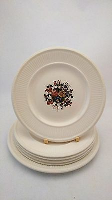 6 Pieces of Wedgwood Conway - 5 Bread & Butter Plates - 1 Dessert Plate