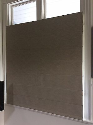 ROMAN BLIND  BY BEACH  - FULL BLOCK OUT, BEIGE SELF TEXTURED PATTERN ,3s