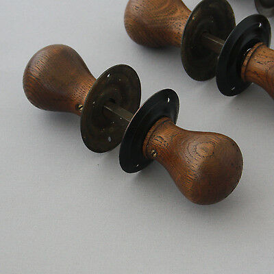 Antique English Oak Door Knobs