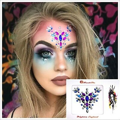 Festival Face Gem Jewel Diamante One Piece Combination Eye Bindi Fusion FUS04