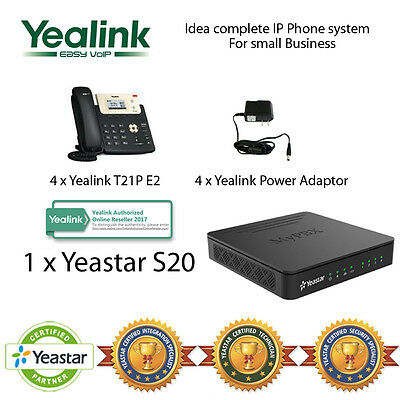 Idea complete IP Phone System for Small Business - Yealink T21P and Yeastar S20