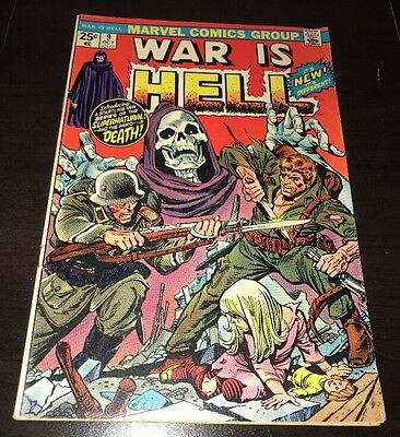 War Is Hell #9 FN+ 1st Appearance of Death Thanos Marvel Bronze Age KEY Comic