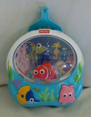 FISHER PRICE FINDING NEMO Crib Soother Music Lights Sounds Disney Crib Toy HTF