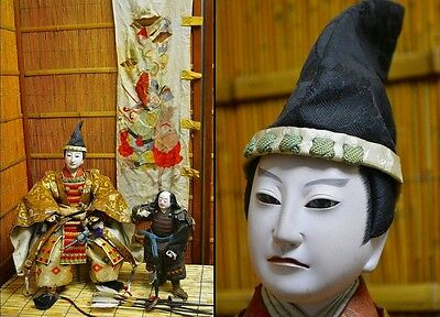Japan Antiques Samurai Musha Yoroi Festival Ningyo Armor Warrior Doll Set 56cm