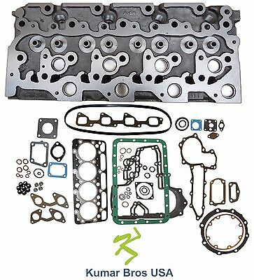 "New Kumar Bros USA BOBCAT 7753 ""KUBOTA V2203"" BARE Cyl Head & Full Gasket Set"