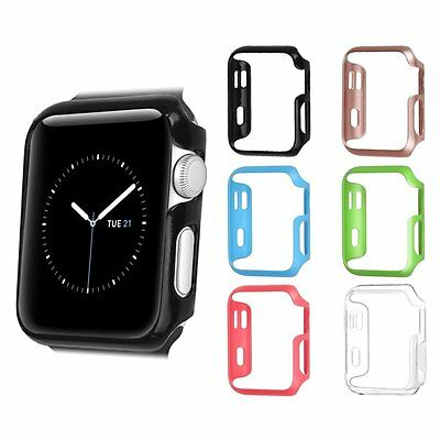 [6 Color Pack] Case Hard Protective Bumper Cover For Apple Watch 38mm / 42mm
