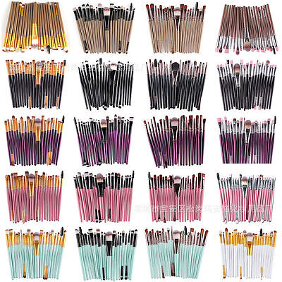 Pro 20Pcs Makeup Lip Brush Tool Powder Foundation Eyeshadow Brushes Set K0310