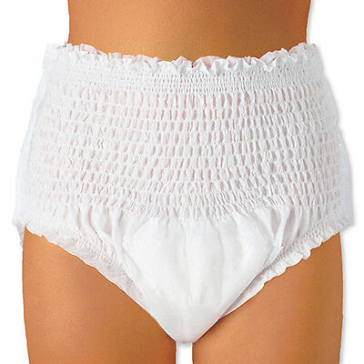 14 Adult Pull Up Incontinence Pants Nappies LARGE Pads.