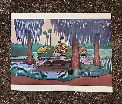 Vintage Fred Beaver Print Creek-Seminole Native American