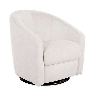 Babyletto Madison Swivel Glider Water & Stain Repellant Microsuede Chair, Ecru