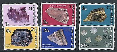 Botswana QEII 1977 minerals surcharge (type II) set of 6 SG367a/75a MNH