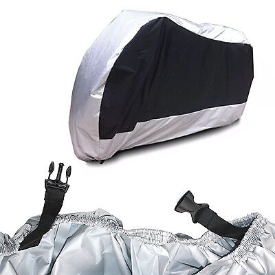 Motorbike Protection Cover XL Motorcycle Water Rain Dust UV Winter Outdoor Large