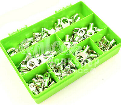 65 ASSORTED 35mm² 50mm² COPPER TUBE RING LUGS ELECTRICAL CONNECTOR BATTERY KIT