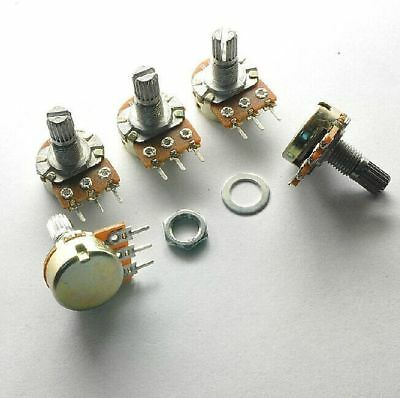 10x B10K Ohm Linear HA Taper Rotary Potentiometer OU 15mm Shaft Nuts Washers