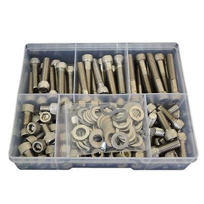 """Socket Cap Screw Assortment Kit 3/8"""" UNC Stainless G304 Nut Washer BSW Bolt #99"""