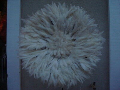 "22"" White  / African Feather Headdress / Juju Hat / 1st. Quality / New Shipment"