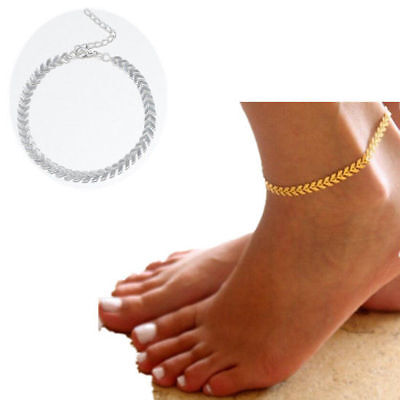 Ankle Chain Bracelet Barefoot Gold Silver Coin Beach Foot Jewelry Women Sandal