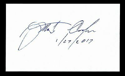 Martin Cooper Historic Inventor of the Cell Phone Signed 3x5 Index Card C12197