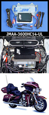 J&M Performance 4-Channel 360 Watt Series Amplifier Kit 14-18 Harley Ultra/Ltd