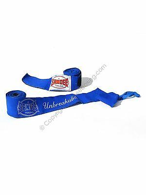 Sandee Muay Thai 5M Blue Stretch Hand Wraps Boxing Wraps