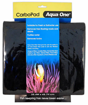 Aqua One Micro Pad / Carbo Pad - Cut to size, fits almost any filter 25.4x45.7cm