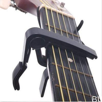 HOAU  Quick Change Clamp Key Capo For Acoustic / Electric / Classic Guitar Black