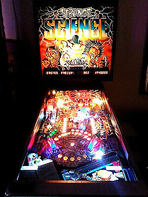 Flipper Led Pinball Bally Midway Strange Science High Voltage 5 Ball Multiball