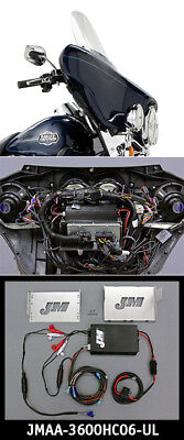 J&M Performance Series 4 Channel Amp Kit 06-13 Harley Ultra Electra Glide